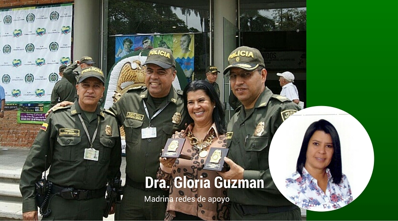 Gloria Guzman Madrina de las redes de apoyo.