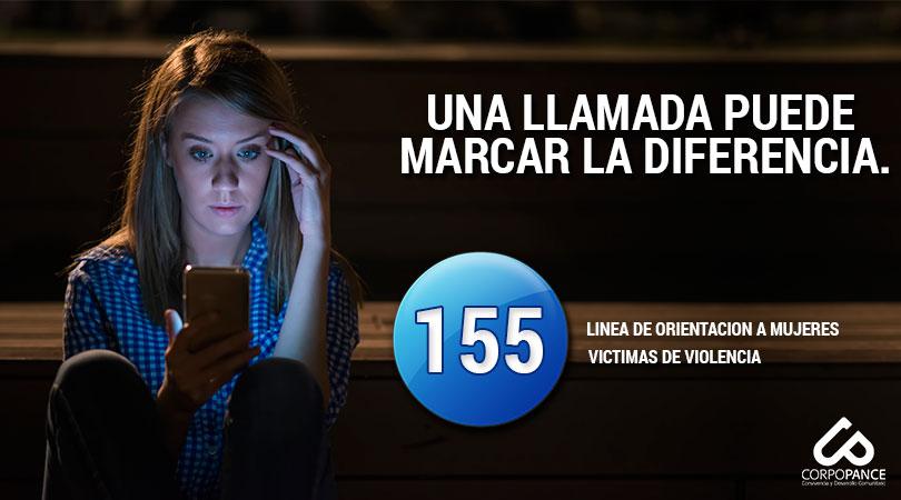 Línea 155. Una llamada puede marcar la diferencia.