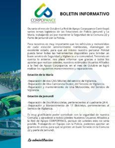 Boletín informativo Corpopance