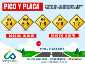 Pico y Placa Cali 2018