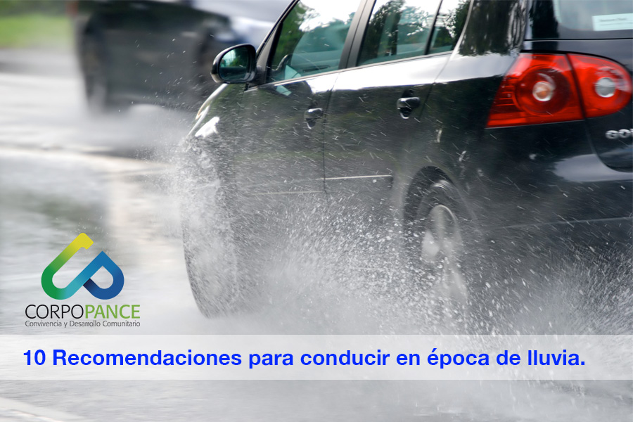 10 Recomendaciones para conducir en época de lluvia.