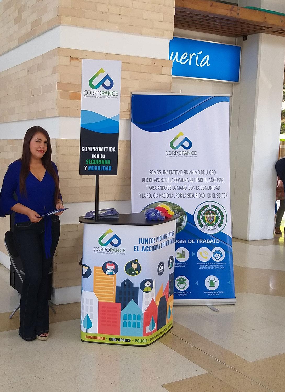 Promoción y Publicidad de la Fundación CORPOPANCE en el Centro Comercial Alfaguara.